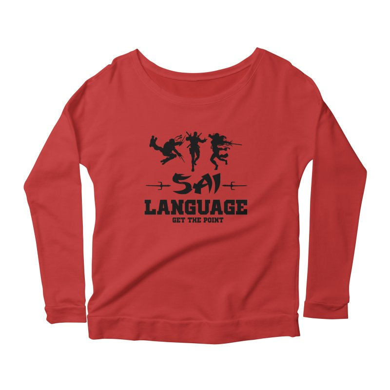 Sai Language Women's Longsleeve Scoopneck  by Swag Stop by justsaying.ASIA