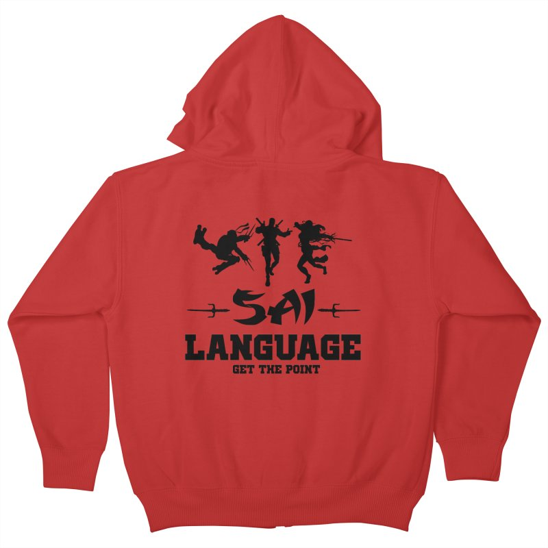 Sai Language Kids Zip-Up Hoody by Swag Stop by justsaying.ASIA
