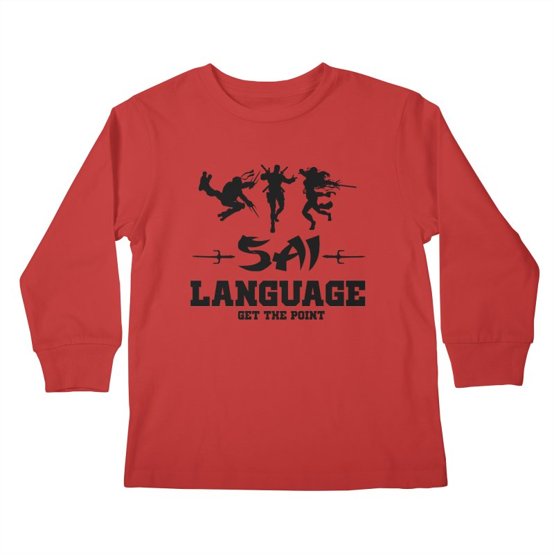 Sai Language Kids Longsleeve T-Shirt by Swag Stop by justsaying.ASIA