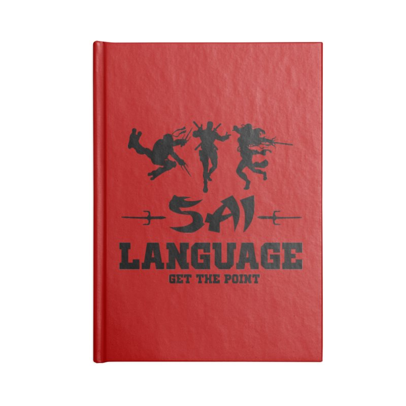 Sai Language Accessories Lined Journal Notebook by Swag Stop by justsaying.ASIA