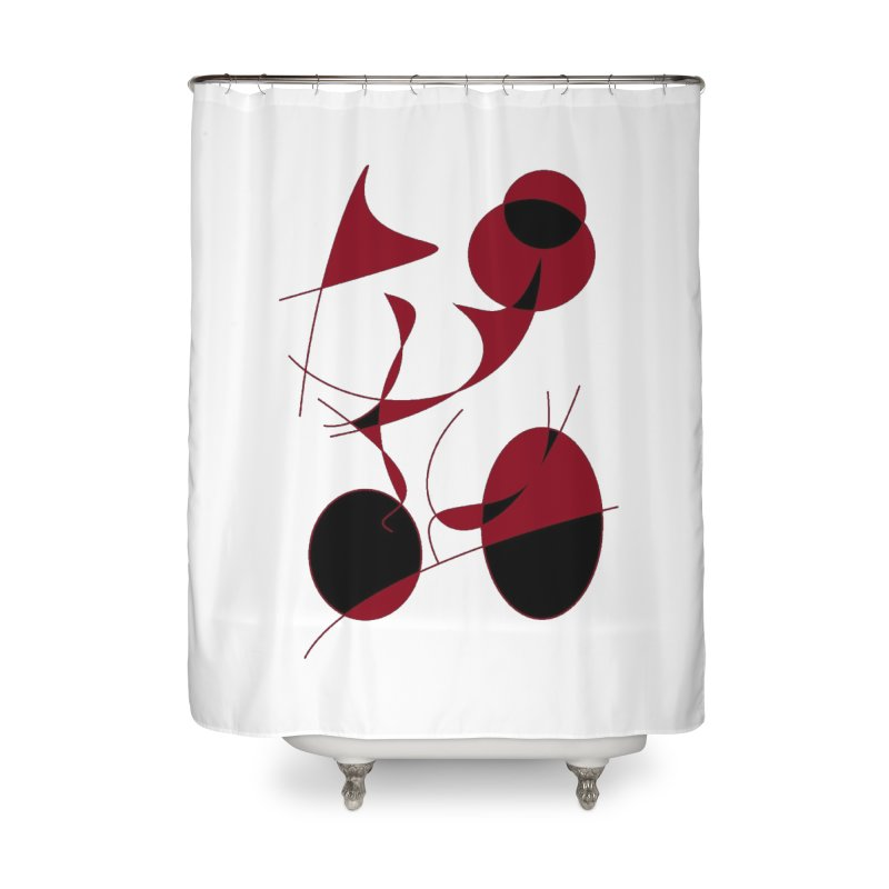 Riding a Bicycle, Abstract (Designed by Just Stories) Home Shower Curtain by Just Stories