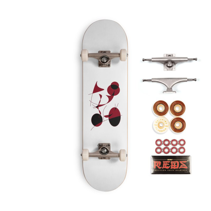 Riding a Bicycle, Abstract (Designed by Just Stories) Accessories Skateboard by Just Stories