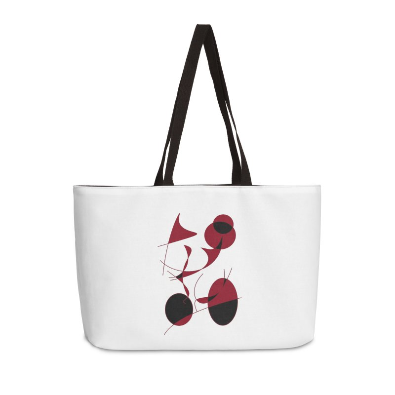 Riding a Bicycle, Abstract (Designed by Just Stories) Accessories Bag by Just Stories