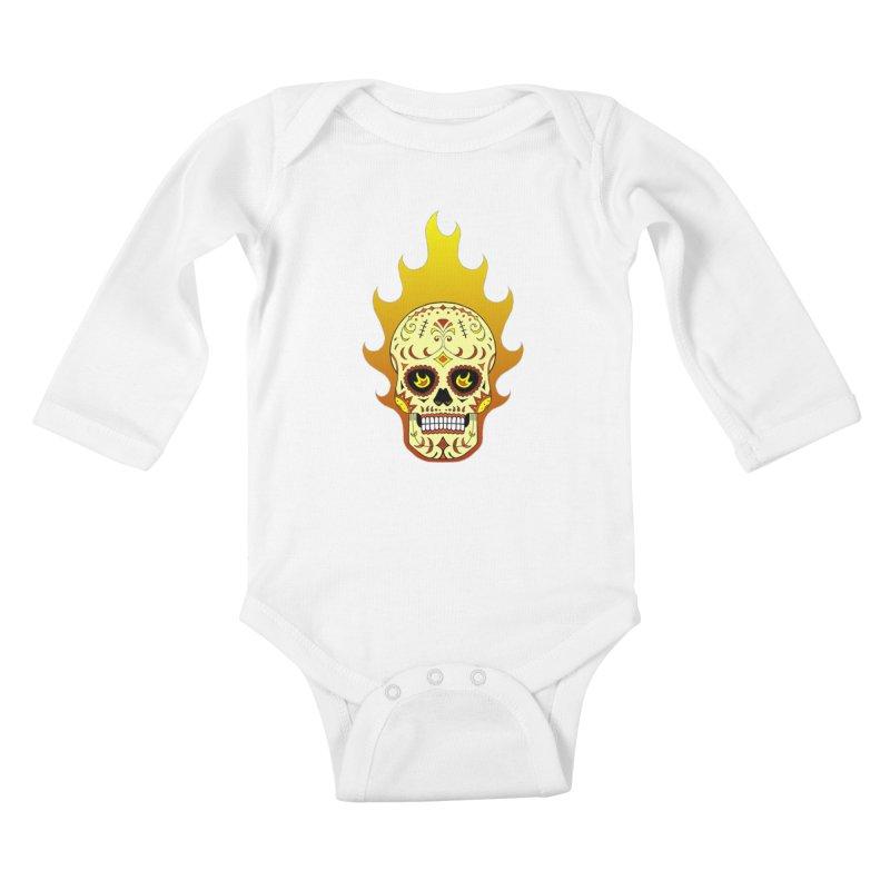 Candy Rider Kids Baby Longsleeve Bodysuit by justus's Artist Shop