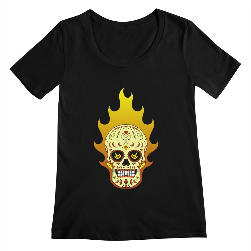 Candy Rider Women's Scoopneck by justus's Artist Shop