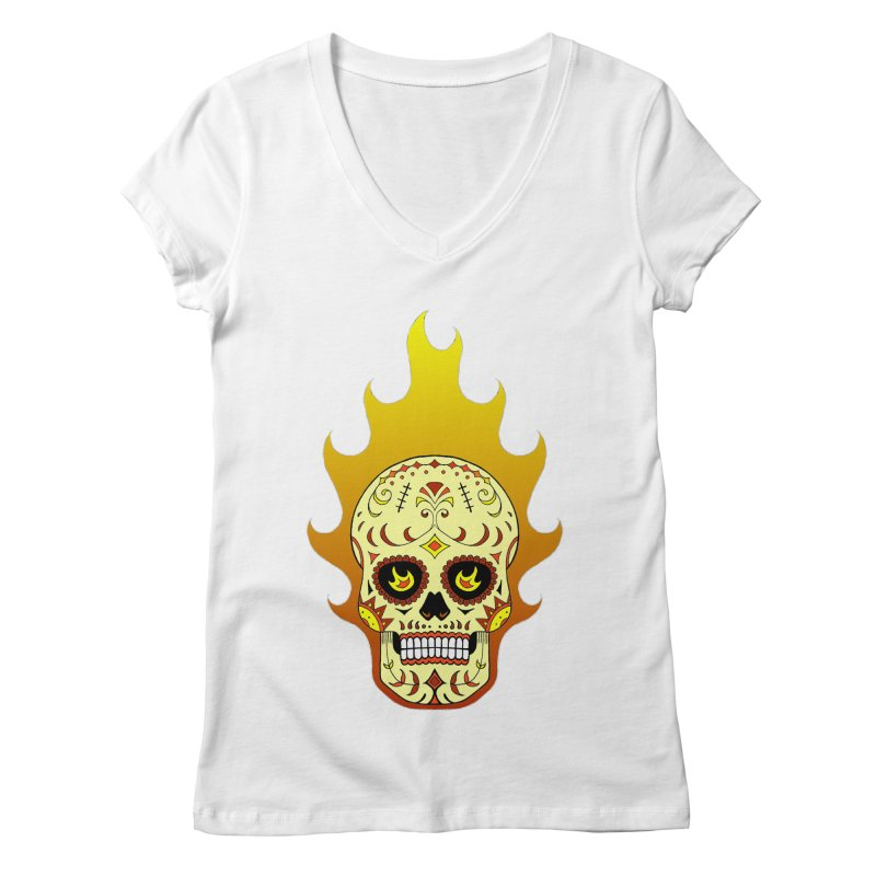 Candy Rider Women's V-Neck by justus's Artist Shop