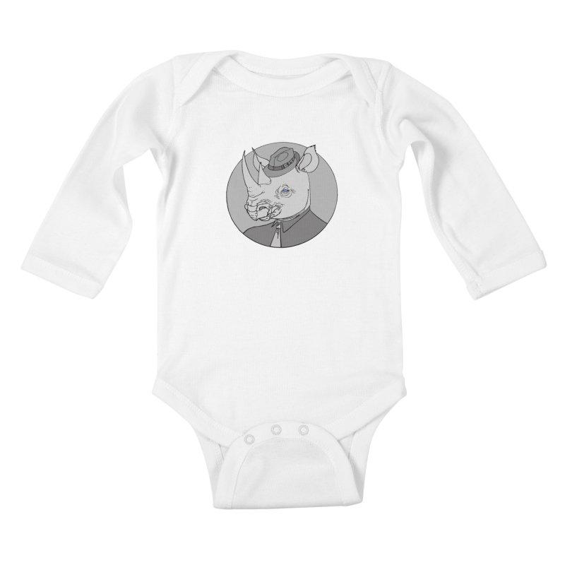 Rhi-Noir Kids Baby Longsleeve Bodysuit by justus's Artist Shop