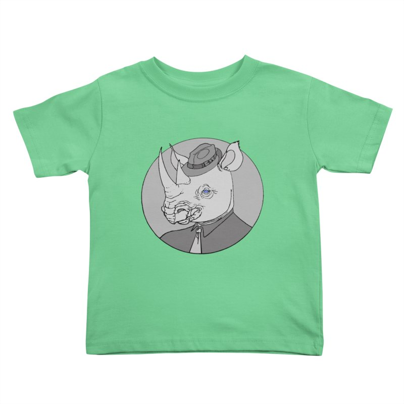 Rhi-Noir Kids Toddler T-Shirt by justus's Artist Shop