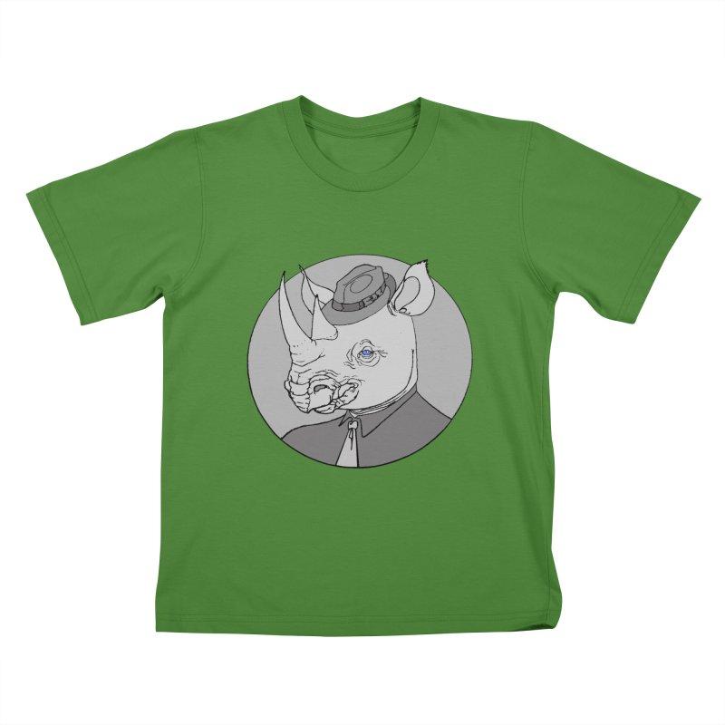 Rhi-Noir Kids T-shirt by justus's Artist Shop