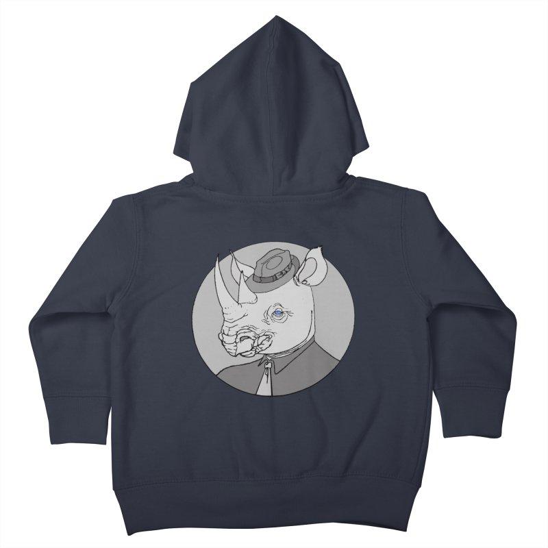 Rhi-Noir Kids Toddler Zip-Up Hoody by justus's Artist Shop