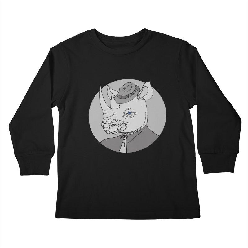 Rhi-Noir Kids Longsleeve T-Shirt by justus's Artist Shop