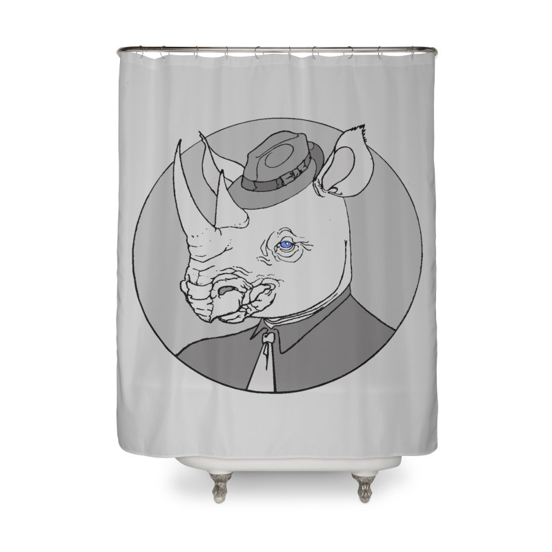 Rhi-Noir Home Shower Curtain by justus's Artist Shop