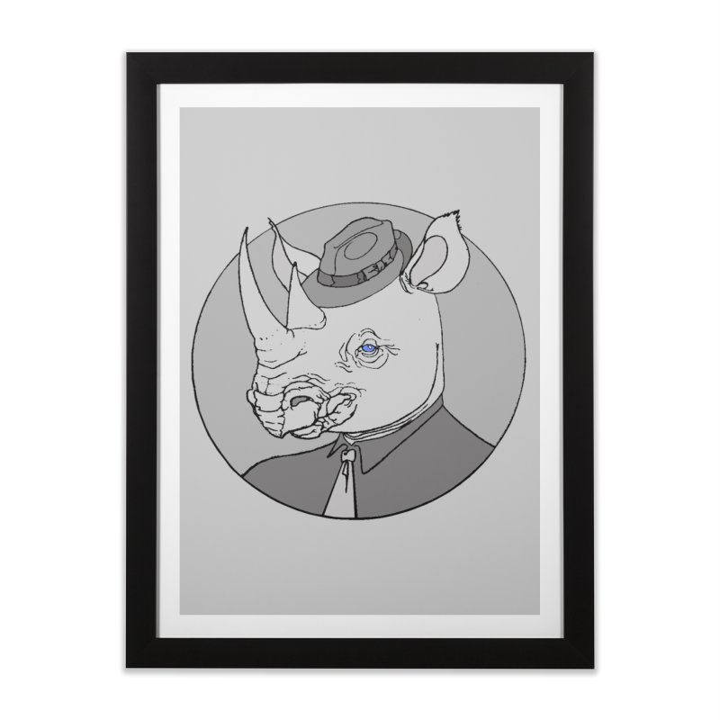 Rhi-Noir Home Framed Fine Art Print by justus's Artist Shop