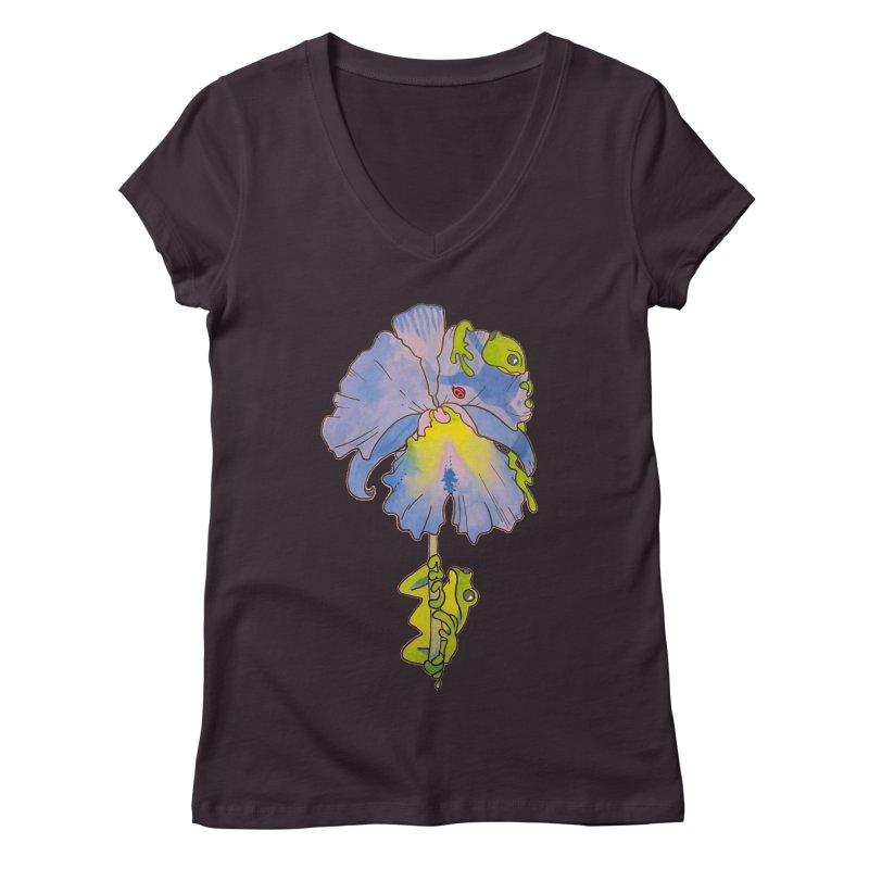 Iris Play Women's V-Neck by justus's Artist Shop