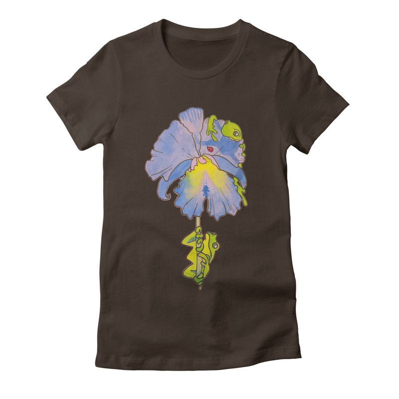 Iris Play Women's Fitted T-Shirt by justus's Artist Shop
