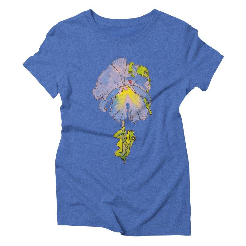 Iris Play Women's Triblend T-Shirt by justus's Artist Shop