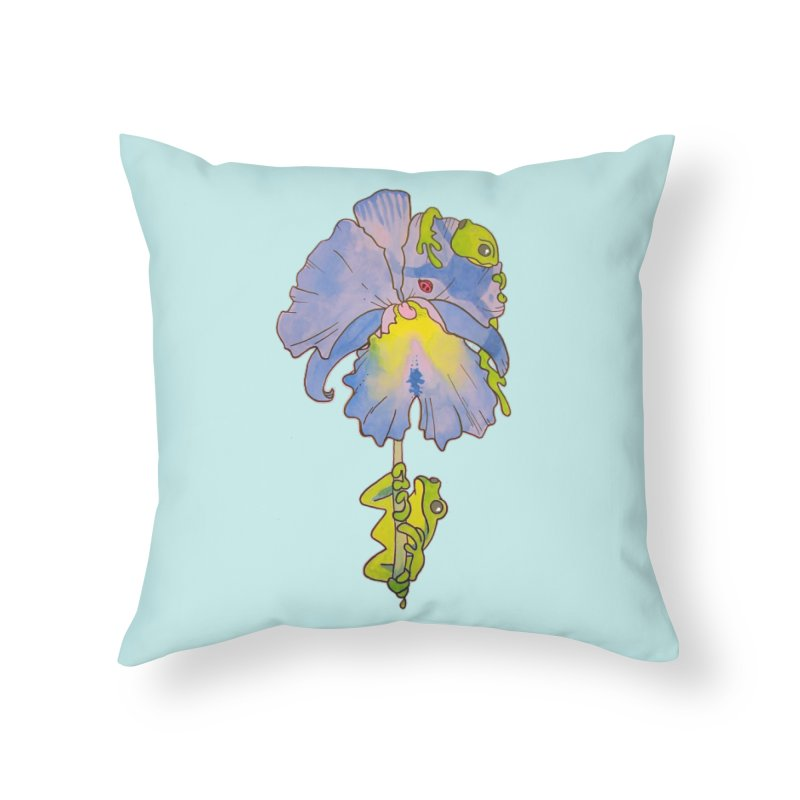 Iris Play Home Throw Pillow by justus's Artist Shop