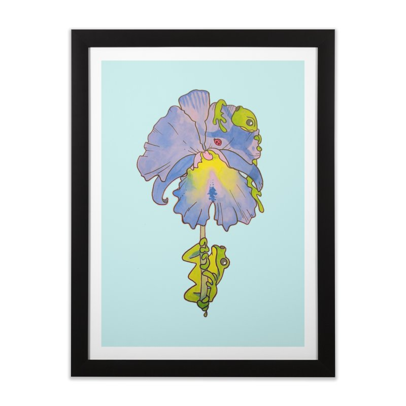 Iris Play Home Framed Fine Art Print by justus's Artist Shop