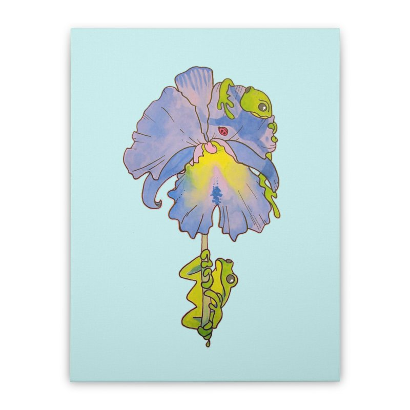 Iris Play Home Stretched Canvas by justus's Artist Shop