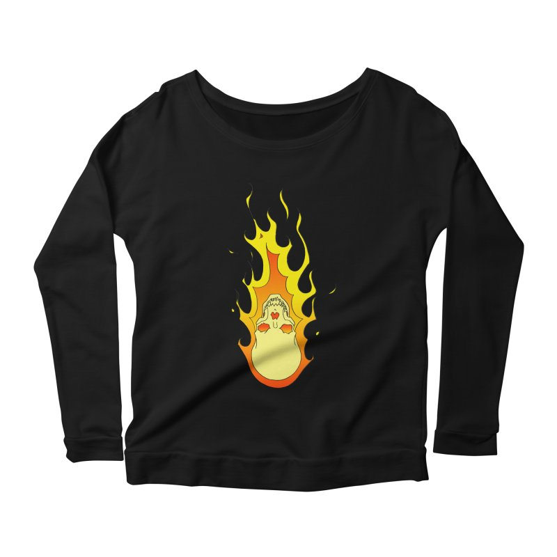 'Rider of the Storm' Women's Longsleeve Scoopneck  by justus's Artist Shop