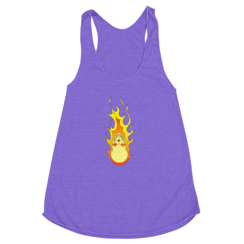 'Rider of the Storm' Women's Racerback Triblend Tank by justus's Artist Shop