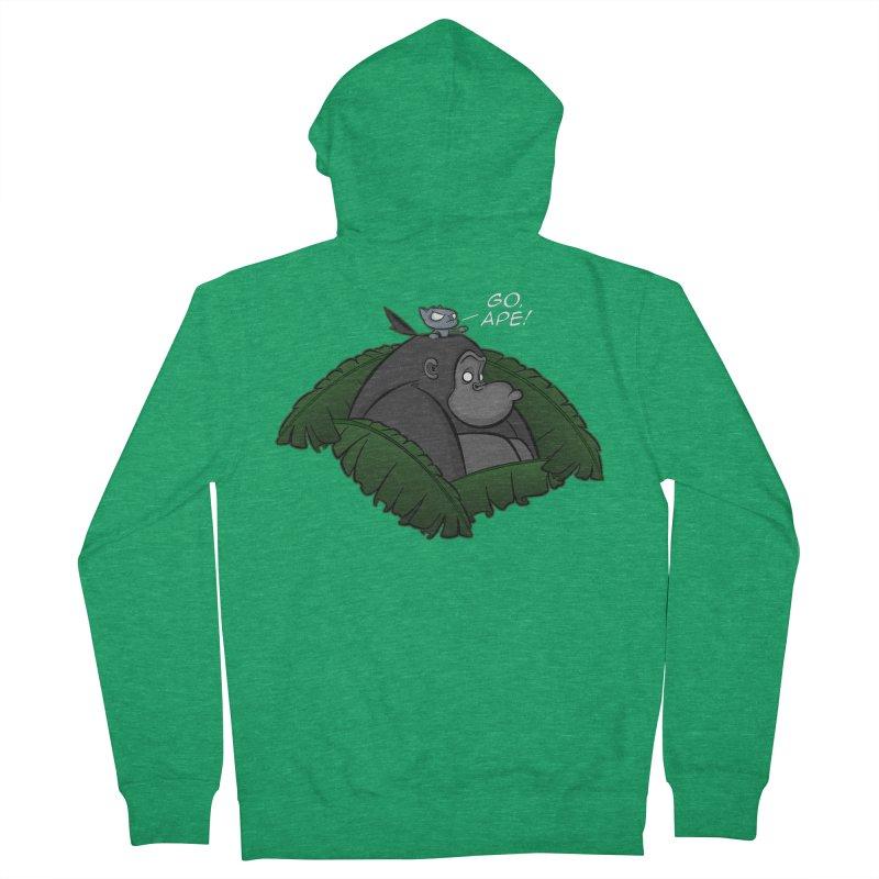 Go, Ape! Men's Zip-Up Hoody by JVZ Designs - Artist Shop
