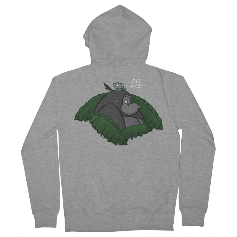 Go, Ape! Men's Zip-Up Hoody by JVZ Designs - Artist Shop