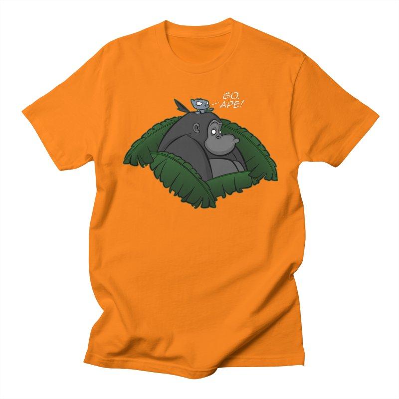 Go, Ape! Men's T-Shirt by JVZ Designs - Artist Shop