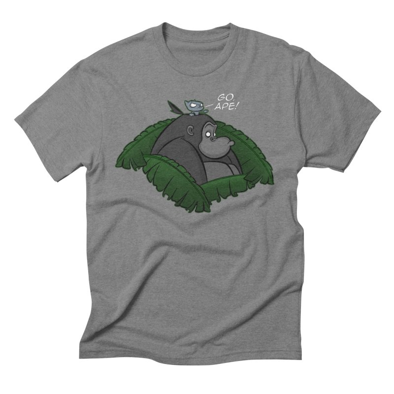 Go, Ape! Men's Triblend T-shirt by JVZ Designs - Artist Shop