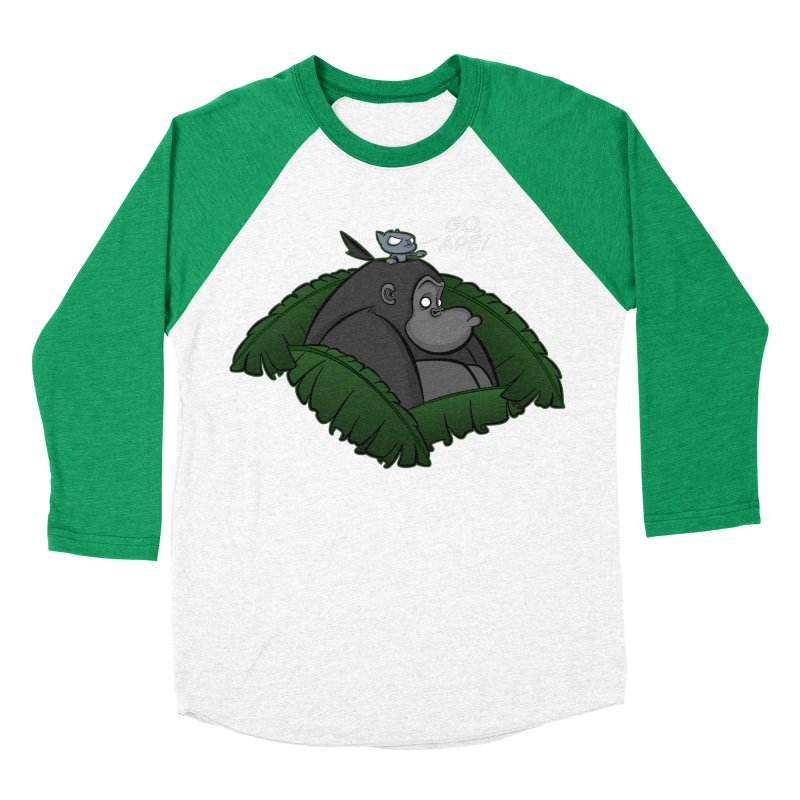 Go, Ape! Women's Baseball Triblend T-Shirt by JVZ Designs - Artist Shop