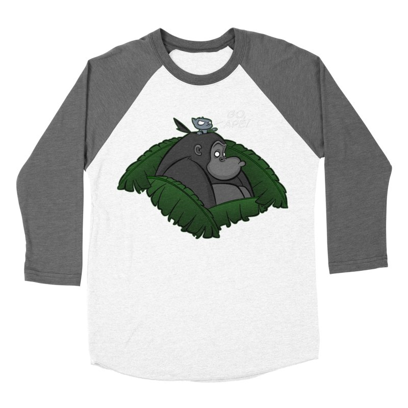 Go, Ape! Men's Baseball Triblend T-Shirt by JVZ Designs - Artist Shop