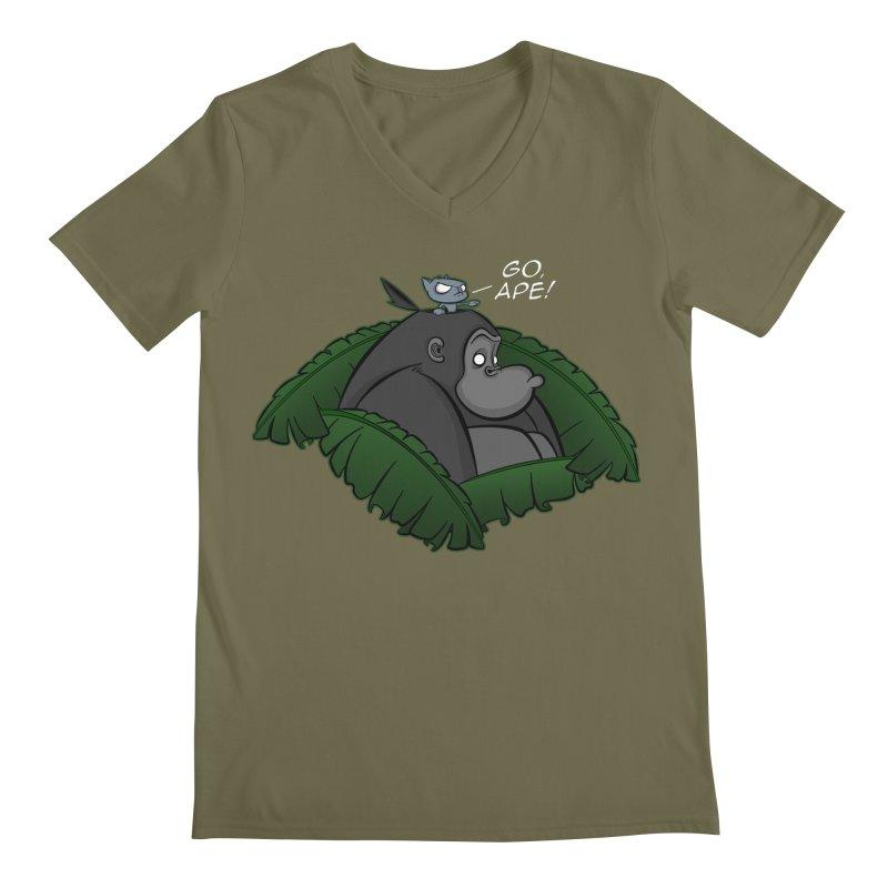 Go, Ape! Men's V-Neck by JVZ Designs - Artist Shop