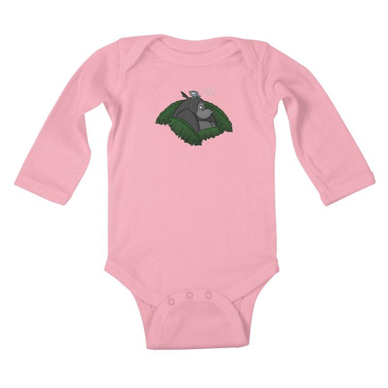 Go, Ape! Kids Baby Longsleeve Bodysuit by JVZ Designs - Artist Shop