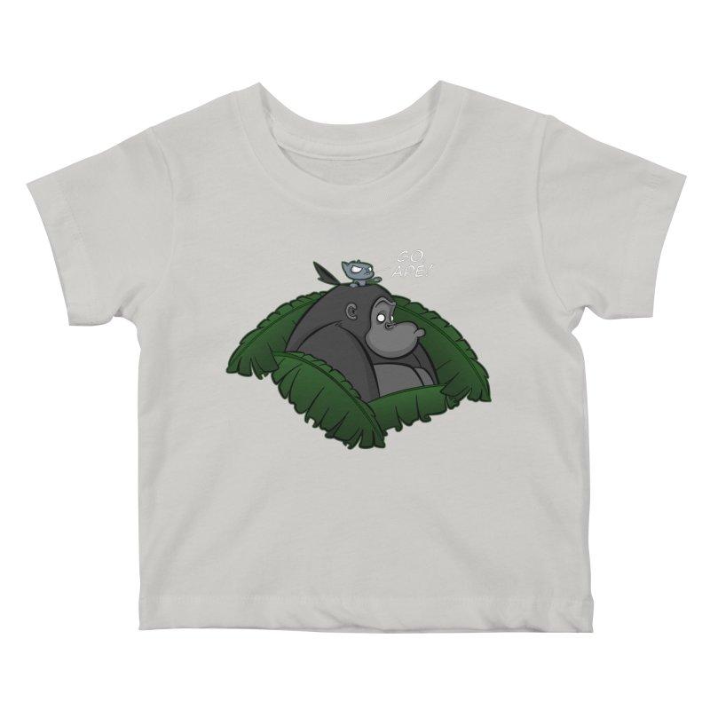 Go, Ape! Kids Baby T-Shirt by JVZ Designs - Artist Shop