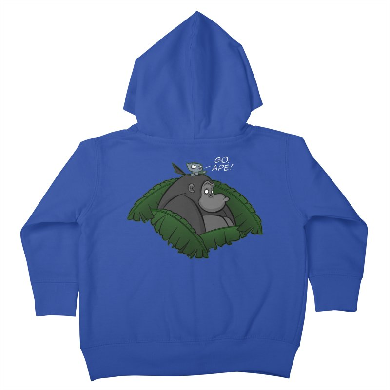 Go, Ape! Kids Toddler Zip-Up Hoody by JVZ Designs - Artist Shop