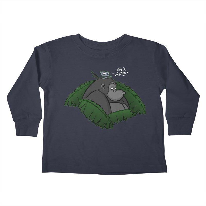 Go, Ape! Kids Toddler Longsleeve T-Shirt by JVZ Designs - Artist Shop