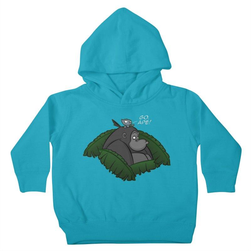 Go, Ape! Kids Toddler Pullover Hoody by JVZ Designs - Artist Shop