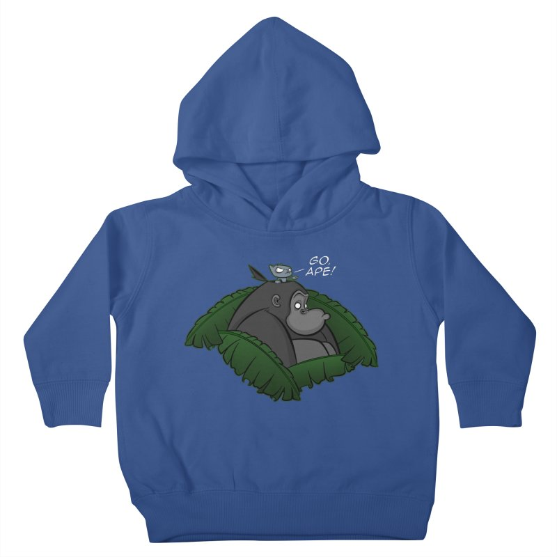 Go, Ape! Kids Toddler Pullover Hoody by JVZ Designs - Artist Shop
