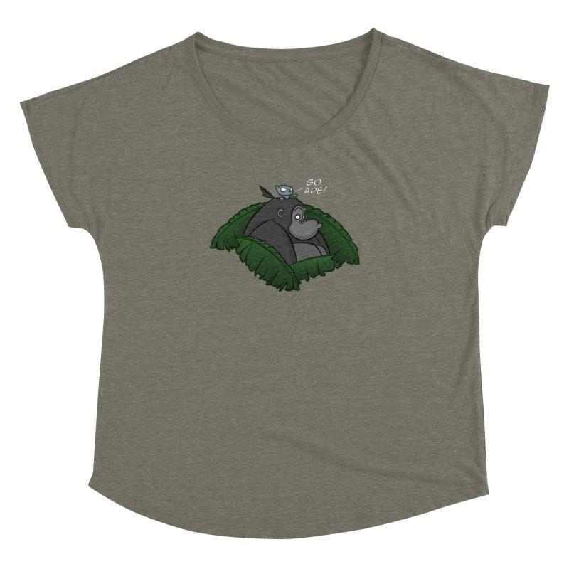 Go, Ape! Women's Dolman by JVZ Designs - Artist Shop