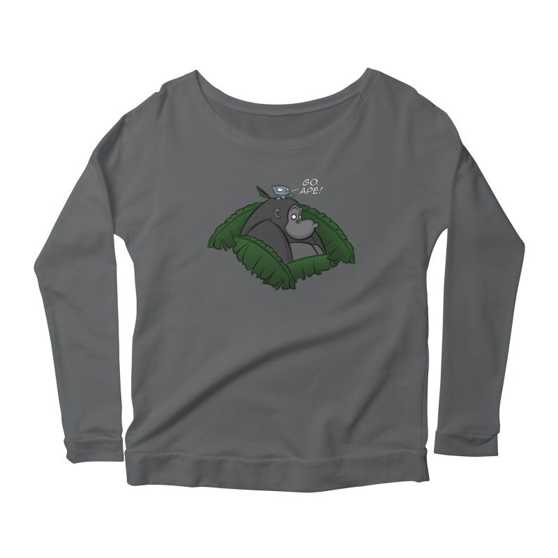 Go, Ape! Women's Longsleeve Scoopneck  by JVZ Designs - Artist Shop