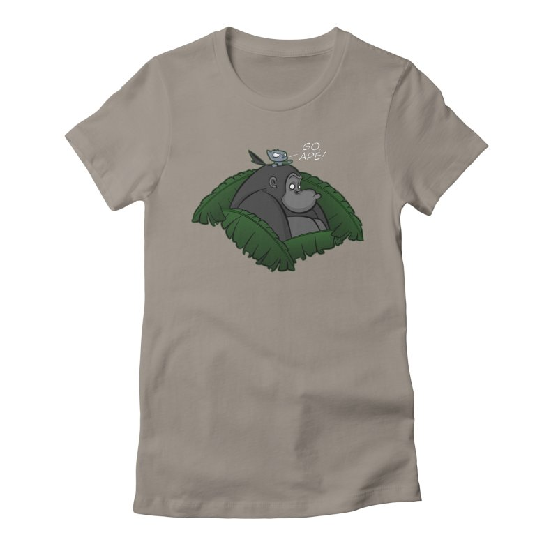 Go, Ape! Women's Fitted T-Shirt by JVZ Designs - Artist Shop