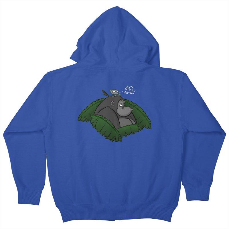 Go, Ape! Kids Zip-Up Hoody by JVZ Designs - Artist Shop