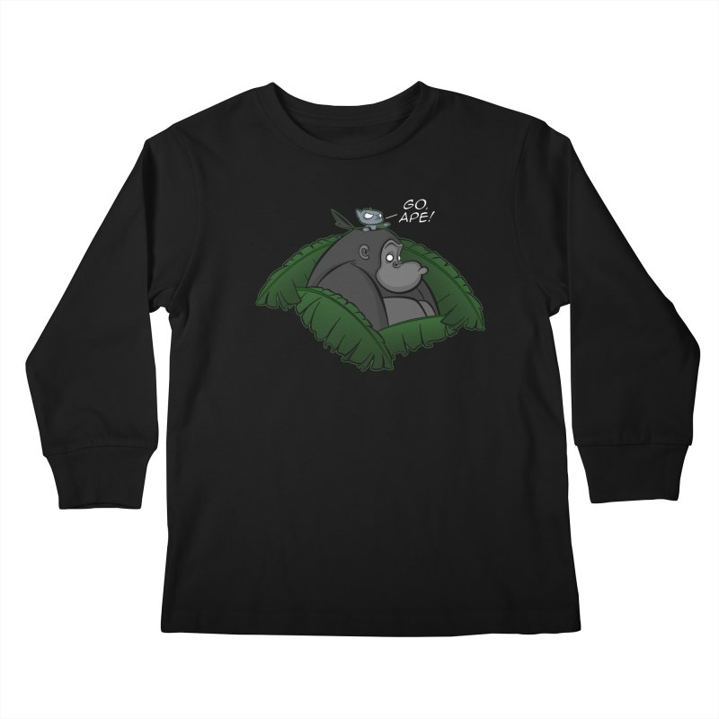 Go, Ape! Kids Longsleeve T-Shirt by JVZ Designs - Artist Shop
