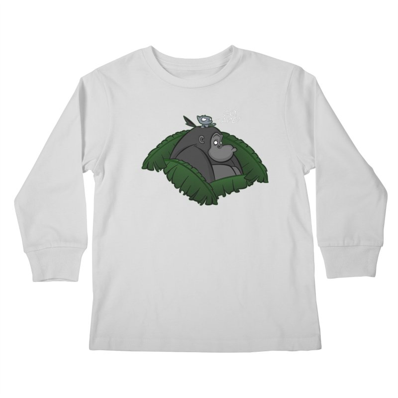 Go, Ape! Kids Longsleeve T-Shirt by JVZ Designs - Artist Shop