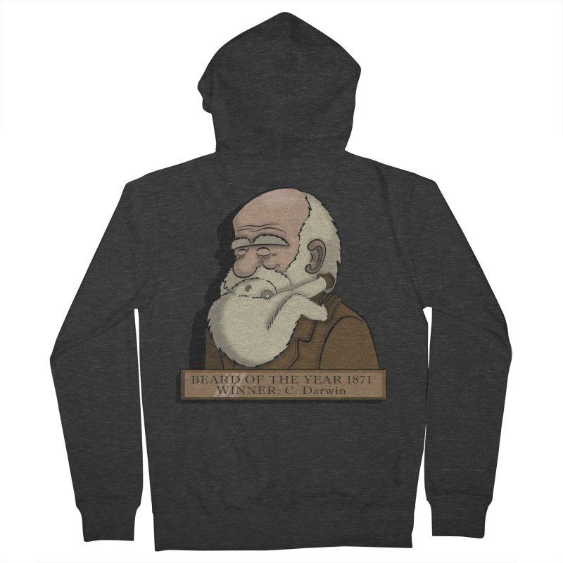 Beard of the Year Men's Zip-Up Hoody by JVZ Designs - Artist Shop