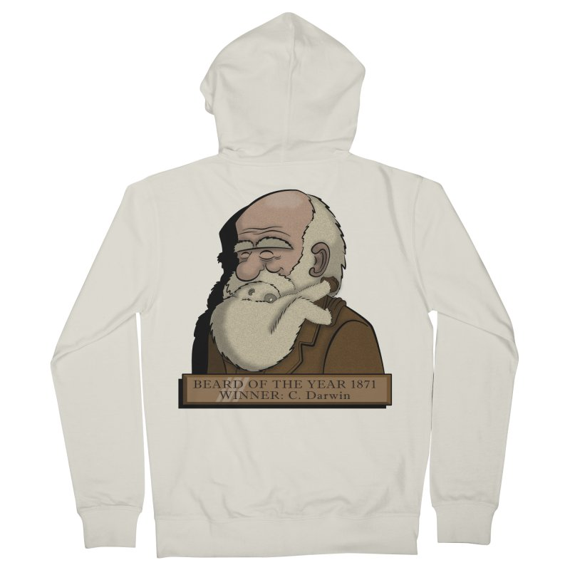 Beard of the Year Men's Zip-Up Hoody by JVZ Designs - Artist Shop