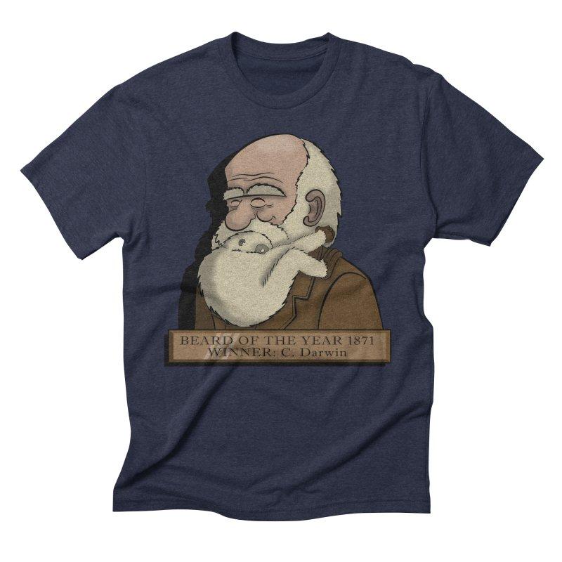 Beard of the Year Men's Triblend T-Shirt by JVZ Designs - Artist Shop