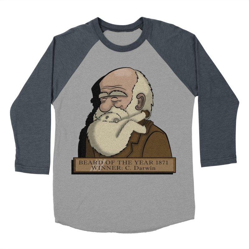 Beard of the Year Women's Baseball Triblend T-Shirt by JVZ Designs - Artist Shop