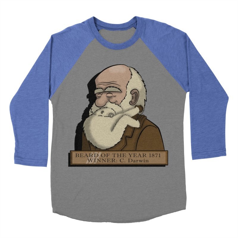 Beard of the Year Men's Baseball Triblend T-Shirt by JVZ Designs - Artist Shop