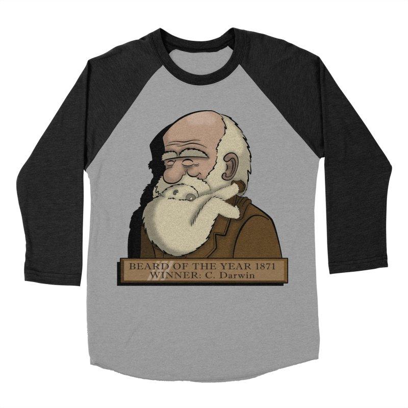 Beard of the Year Men's Baseball Triblend T-Shirt by JVZ Designs - Artist Shop